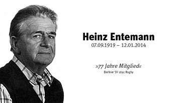Zum Gedenken an Heinz Entemann