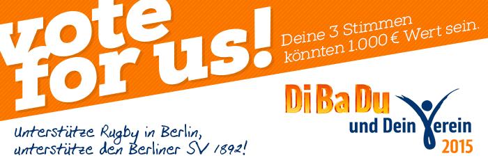 Aktion DiBaDu - Dein Verein 2015 Berliner SV 1892 Rugby